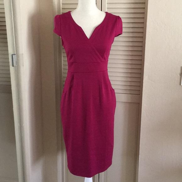 other Dresses & Skirts - Purplish red short sleeve dress size 0